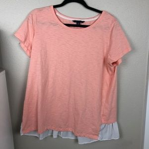 Tommy Hilfiger Peach Short Sleeved Top  Size XL